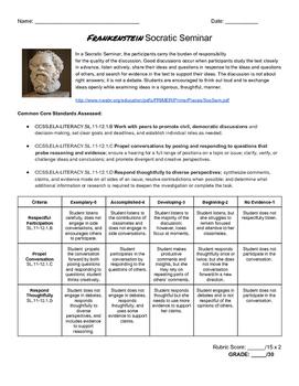 Frankenstein Socratic Seminar