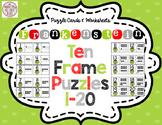 Frankenstein Ten Frames Puzzles 1-20