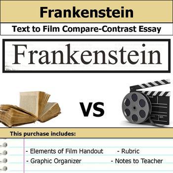 Frankenstein - Text to Film Essay Bundle