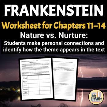 Frankenstein Worksheet: Nature vs. Nurture