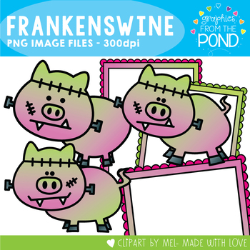 Frankenswine - Clipart for Teachers and Classrooms