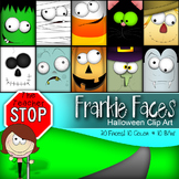 Frankie Faces Halloween Clip Art {The Teacher Stop}