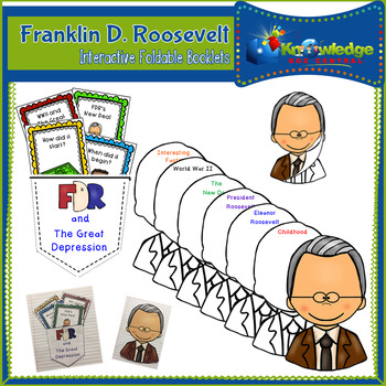 Franklin D. Roosevelt Interactive Foldable Booklets - EBOOK