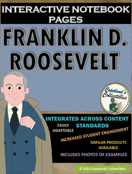 Franklin D. Roosevelt's Interactive Notebook Pages