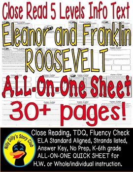 Franklin & Eleanor Roosevelt Close Read 5 Level Passages 3