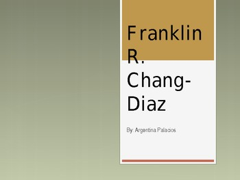 Franklin R. Chang Diaz Vocab Powerpoint
