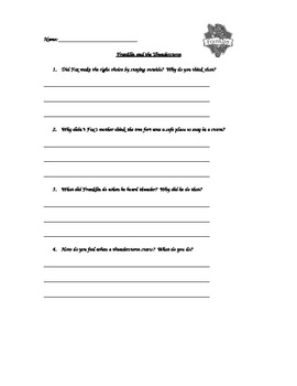 Franklin and the Thunderstorm Comprehension Questions
