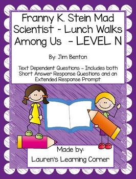Franny K. Stein - Lunch Walks Among Us - Level N - Text De