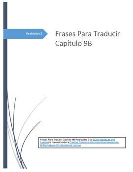 Frases Para Traducir Capítulo 9B Realidades 2