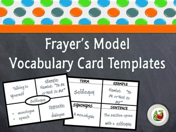 Frayer's Model Vocabulary Card Templates