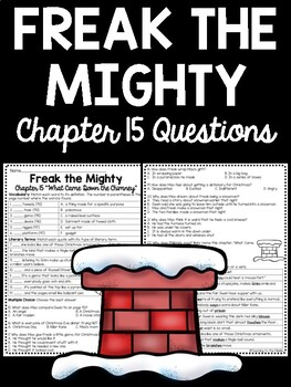 Freak the Mighty Chapter 15 questions, reading comprehensi