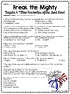 Freak the Mighty Chapter 6 Reading Comprehension Worksheet