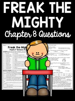 Freak the Mighty Chapter 8 Reading Comprehension Worksheet