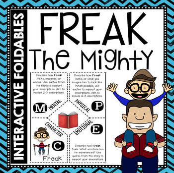 Freak the Mighty: Reading and Writing Interactive Notebook