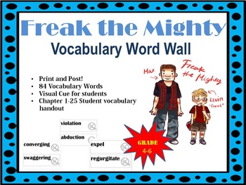 Freak the Mighty Vocabulary Word Wall