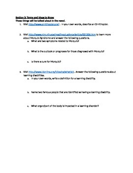 Freak the Mighty Web Quest