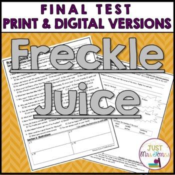 Freckle Juice Final Test