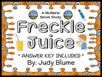 Freckle Juice (Judy Blume) Novel Study / Guided Reading Co