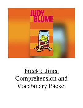 Freckle Juice Guided Reading Unit Level M