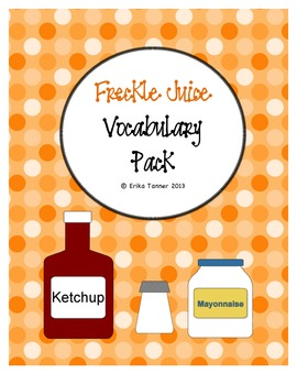Freckle Juice Vocabulary Pack
