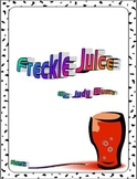 Freckle Juice by Judy Blume Reading Response Literature Ci