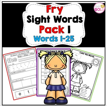 Fry's Sight Words(1-25)  Activity Pack 1