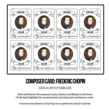 Frederic Chopin Composer Trading Card