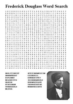 Frederick Douglas Word Search