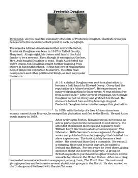 Frederick Douglass - Summary Illustrations and Questions