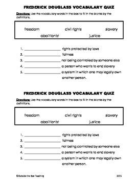 Frederick Douglass Vocabulary Quiz