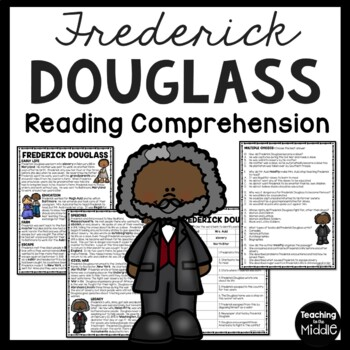 Frederick Douglass biography & questions, slavery, Civil W