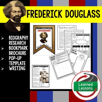 Fredrick Douglass Biography Research, Bookmark Brochure, P