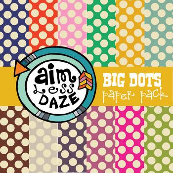 Free 12 x 12 Digital Paper: big dots, bright colors