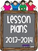 Free 2013-2014 Lesson Plan Cover Sheets!