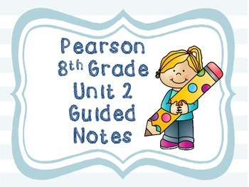 Free 8th Grade Guided Notes For Unit 2 Princeton Hall / Pe
