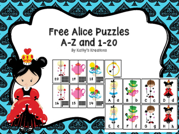 Free A-Z And 1-20 Alice Puzzles