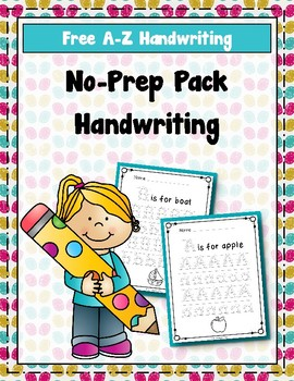 Free A-Z Handwriting Pages