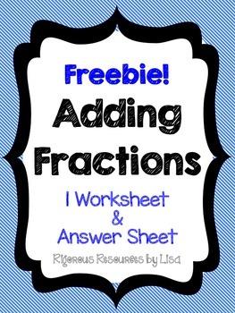 FREE - Adding Fractions Worksheet