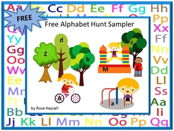 Free Alphabet Hunt Lower Case Upper Case Letters Interacti