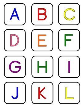 Free Alphabet Letter Cards