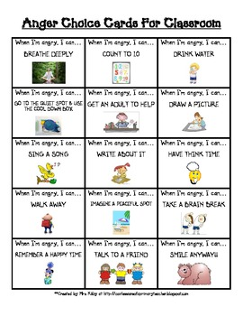 Printables Free Printable Anger Management Worksheets For Kids free anger choice cards for the classroom by mrskilby choices wh