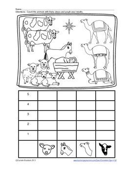 Free Animal Nativity Graphing Printable