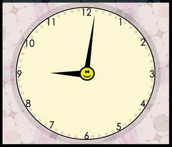 Free Animated Analog Clock (2.MD.C.7)