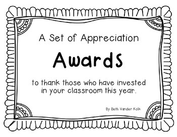 Free End of the Year Appreciation Award Sample