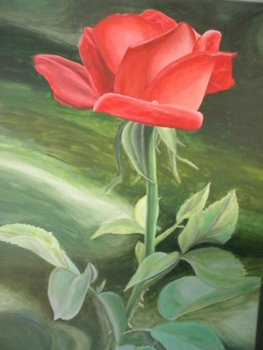 Free Art Lesson on Painting a Rose