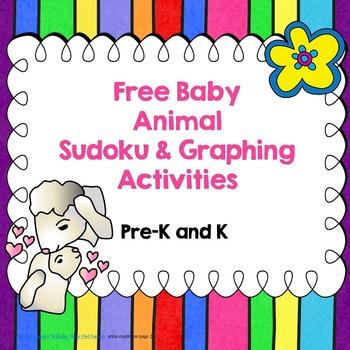 Free Baby Animal Sudoku and Graphing