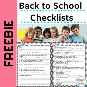 Free Back to School Checklist to Get your Classroom Ready