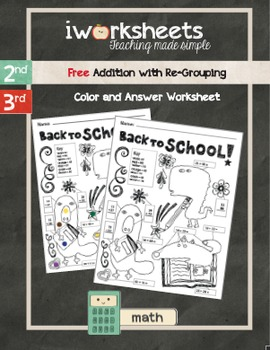 Free Back to School - Color-by-Answer Worksheets - Additio
