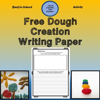 Free Back to School Dough Activity