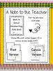 Free Back to School Handwriting Joke Book